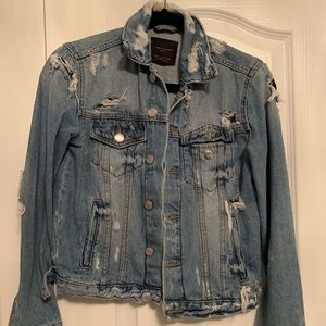 Distressed jean jacket from Zara
